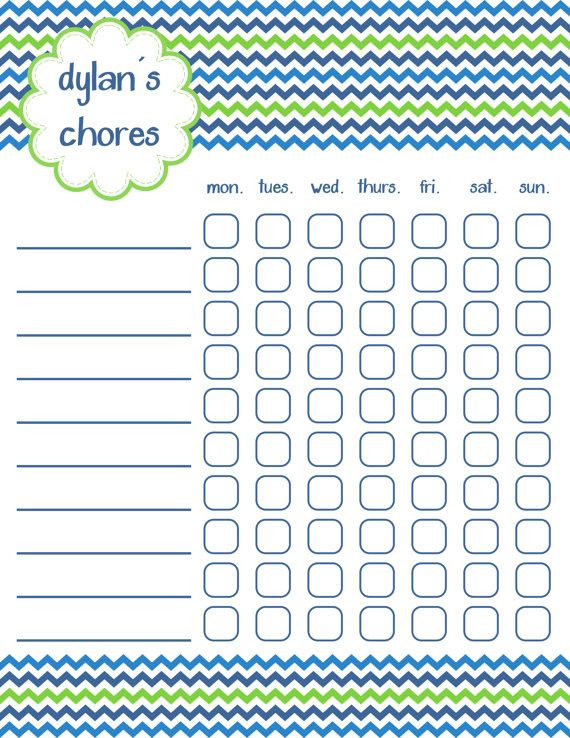 187 best Chore charts images on Pinterest Families, For kids and - blank sticker chart