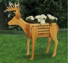 free reindeer wood patterns   Planter Woodworking Plans - Deer Planter Woodworking Pattern