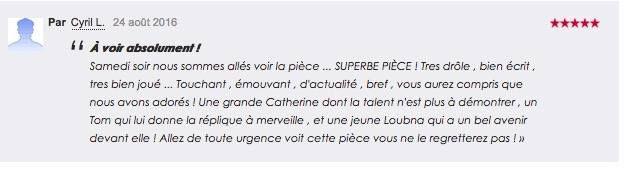 Même sur TripAdvisor, on a des chouettes critiques #MerciMerci 😃🎭 – reconnaissant, à Theatre des mathurins.