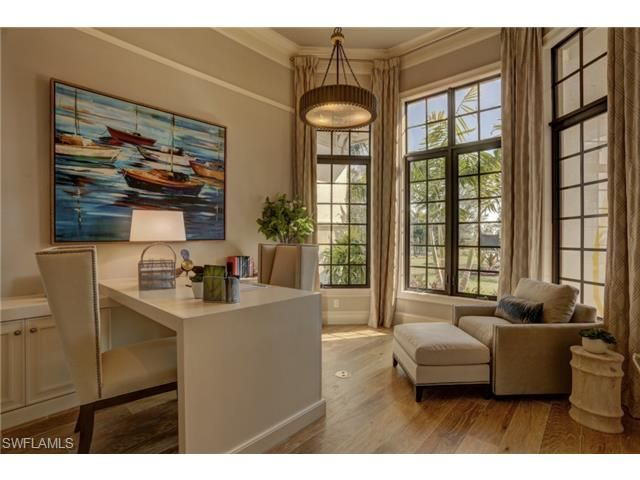5899 Burnham Rd, Naples, FL 34119 | Golf estate with elegant home office study in Quail West, Naples, Florida - Melinda Gunther