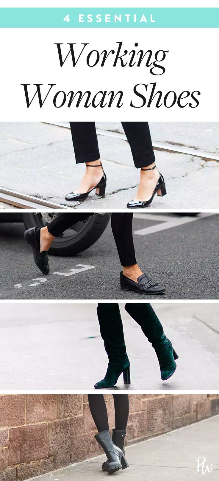 762208d3fb911 4 Essential Working Woman #workingwoman #shoes #heels #wedges #boots