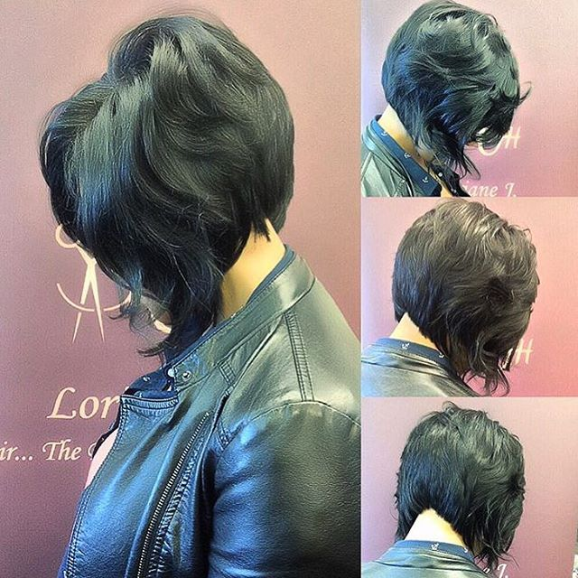 STYLIST FEATURE| Love the layers on this #bob ✂️ styled by #chicagostylist @lori_theexclusivestylist ❤️ so pretty #voiceofhair ✂️========================== Go to VoiceOfHair.com ========================= Find hairstyles and hair tips! =========================