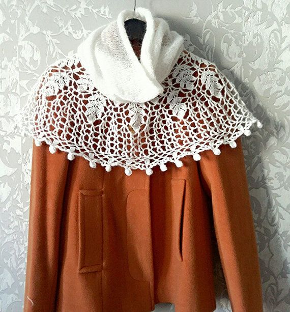 #knittedshawl #scarf #cape #collar #knitted
