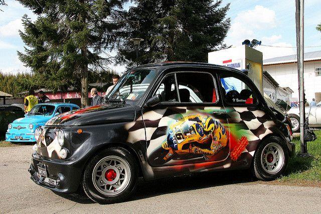 """FIAT  500  """" VALENTINO  ROSSI """""""