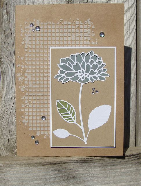 Memory Box Stencil- Mesh 88517, Memory Box dies- Delightful Peony Outline 98742, Delightful Peony Background 98744 by tesa4Him on Flickr