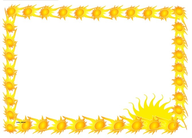 A set of summer themed lined paper and page borders for your - lined page