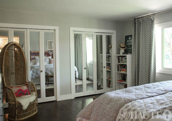 mirror closet doors: Mirror Closet Doors, Mirror Closets, Mirrors Closets, Master Bedroom, Mirror Doors, Bedrooms Wall Color, Bi Fold Doors, Mirrored Closet Doors, Bedroom Ideas