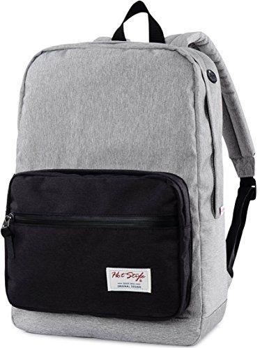 HotStyle 915s Sac à dos chic – Imperméable pour ordinateur portable 15 pouces – Gris/Noir: Un sac à dos robuste et imperméable fabriqué à…