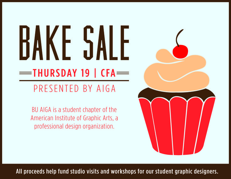 Bake Sale Flyer. Bake Sale Or Bakery Poster Or Flyer Bake Sale Or