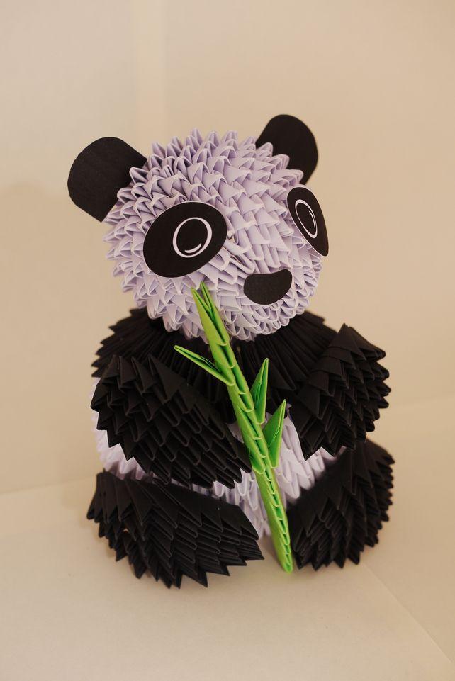 3-D Panda Origami Model