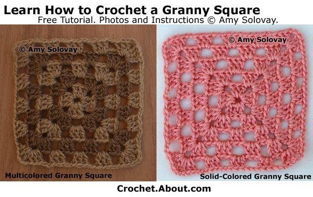 How to Crochet a Multicolored Granny Square