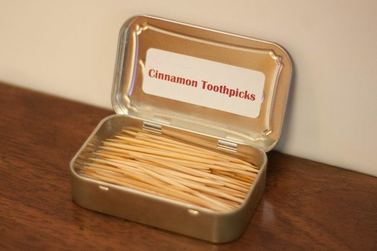 Cinnamon Toothpicks with essential oils