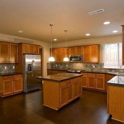 can i have this kitchen in dark oak or cherry wood lol - Oak Kitchen Cabinets Ideas