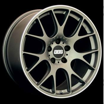 BBS CH-R 118 Titanium paint, Polished stainless steel rim protector.