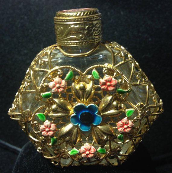 Bohemian Czech Glass Filigree with Dauber