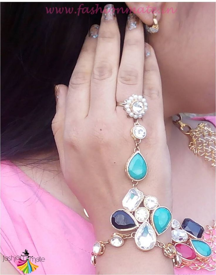 How to style wedding Ring bracelet on western outfits - indowestern jewellery trends 2015