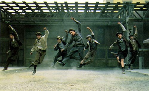 Newsies - Um, I mean a musical full of cute boys who can sing and dance and rebel against authority for a noble cause? My sisters and I were in heaven.