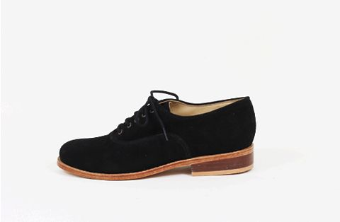 &Attorney Moriati Lace Up in Black Suede
