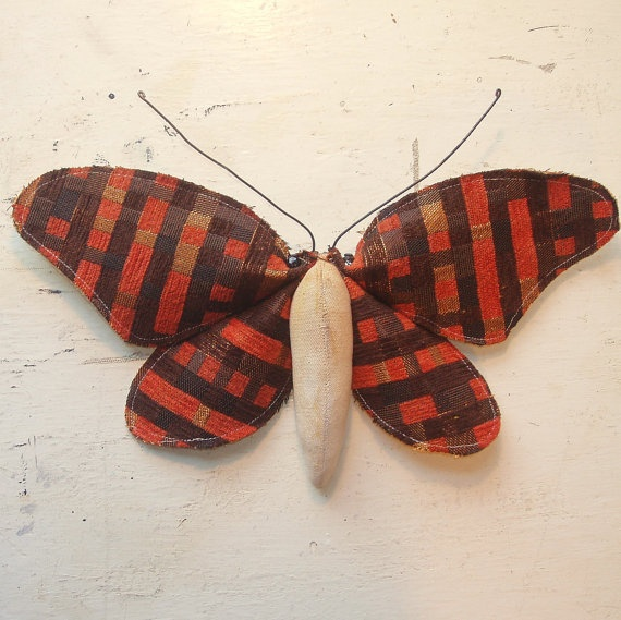 Soft sculpture fabric moth by Mister Finch - Etsy Shop