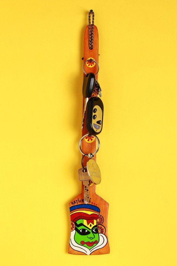 A Krazy Mug: Hand painted Key Holder - Kathkali Orange  #handpainted   #keyholder   #Kathakali   #Orange   #homedecor   #homeimprovement   #homedecorideas   #art   #crafts