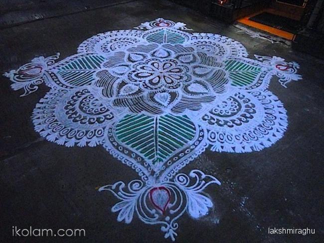 Rangoli Happy sankranthi festival | www.iKolam.com