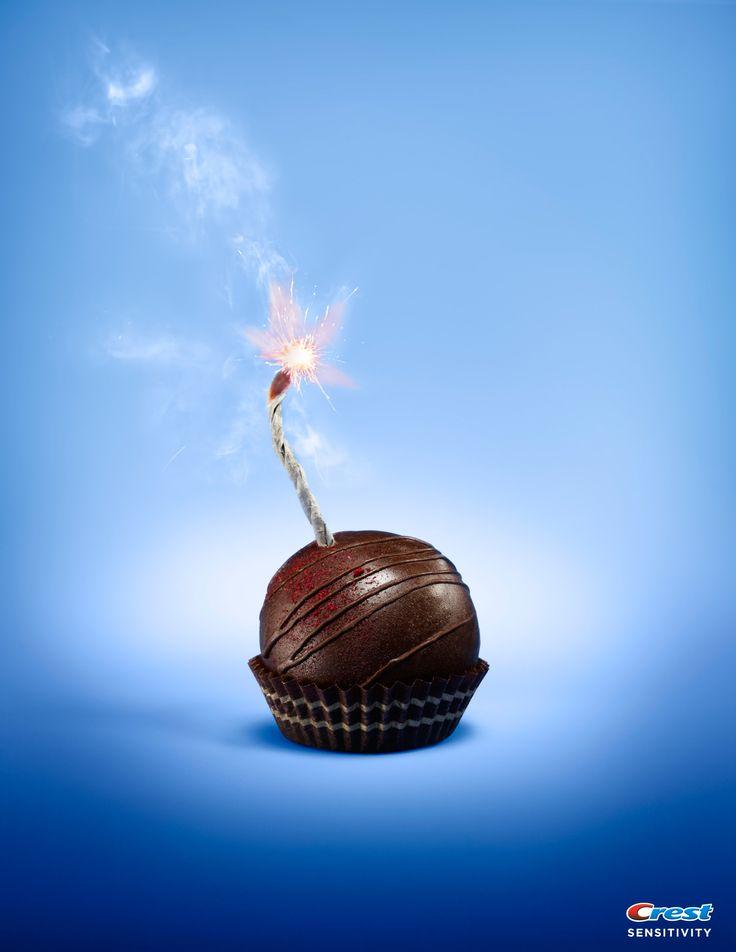 Crest Sensitivity: Cupcake  a clever visual pun