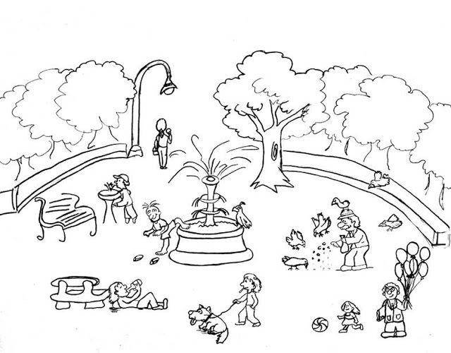 Producci n de textos secuencias temporales y descripci n for Como iluminar un parque