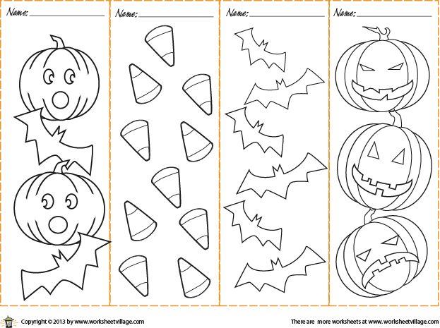 Colorable Halloween Bookmarks.