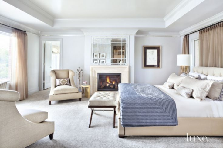 Best Contemporary White Master Bedroom Luxe Bedrooms 400 x 300
