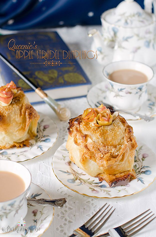 Apple Strudel Dumplings inspired by Queenie's magical apple strudel from the film Fantastic Beasts and Where to Find Them