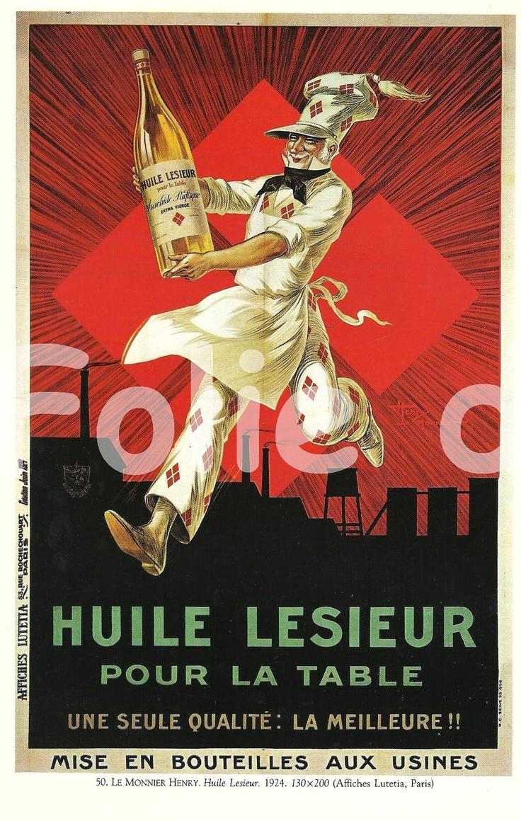 Vintage Food Posters | Vintage French FOOD Lesieur Oil advertisement poster Henry Le Monnier ...