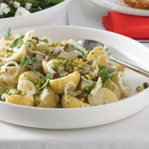 Potato salad with mint and pistachios | Australian Healthy Food Guide