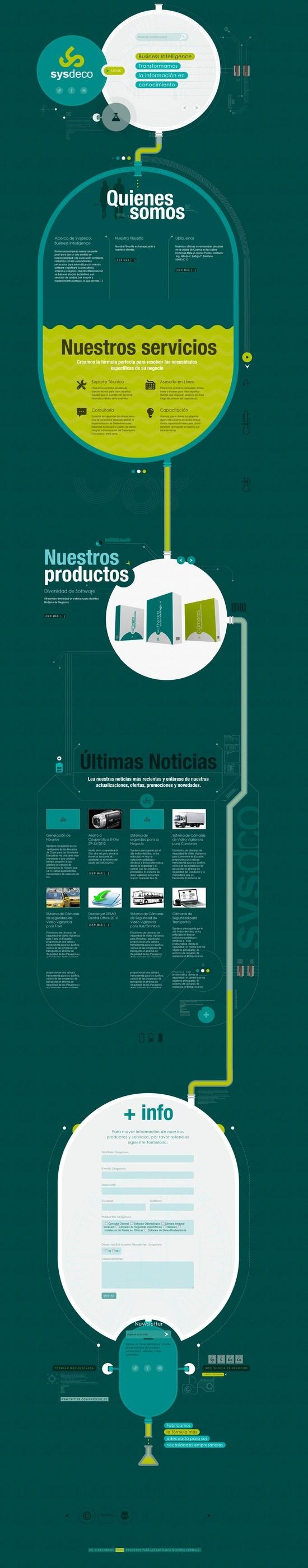 Unique Web Design, SysDeco #WebDesign #Design (http://www.pinterest.com/aldenchong/)