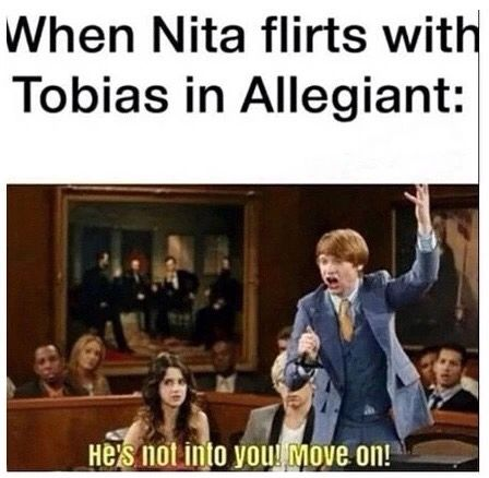 I hated Nita look I already have the perfect girlfriend is what he should've said