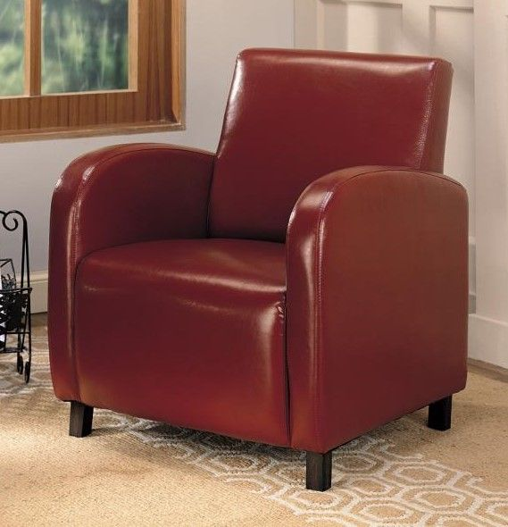 Red Upholstered Accent Arm Chair by Coasterhttp://www.ubuyfurniture.com/red-accent-arm-chair-coaster-900335.html#Red #Upholstered #Accent #Arm #Chair #Coaster #Furniture #Business #Ubuyfurniture