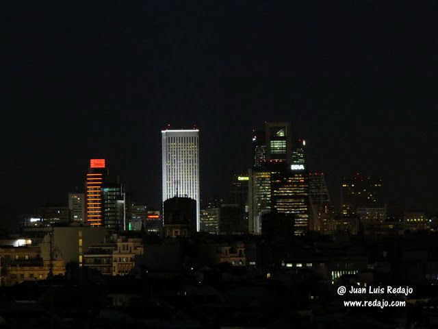 Vistas nocturnas de Madrid desde la azotea del Círculo de Bellas Artes
