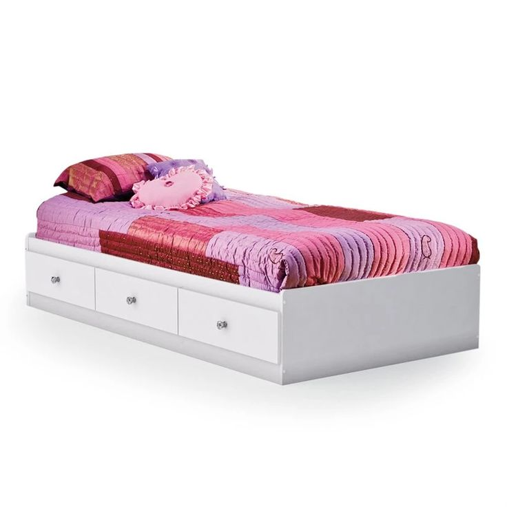 South Shore Crystal Mates Twin Platform Bed | from hayneedle.com