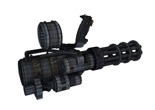 Mô hình giấy Gatling Gun (1-1) – Resident Evil 3 thiết kế bởi Ivan Yakushev| Papercraft Gatling Gun (1-1) – Resident Evil 3 create by Ivan Yakushev.