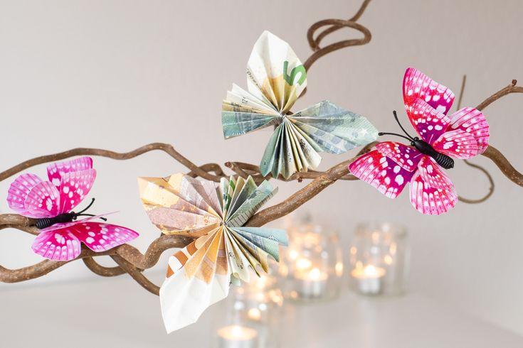 DIY: Schmetterlinge aus Geld falten - Anleitung für