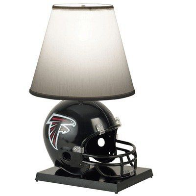 NFL Deluxe Helmet Lamp Team: Atlanta Falcons by WinCraft. $107.99. 1500131 Team: Atlanta Falcons Picture shown with Atlanta Falcons logo  Features: -Officially licensed helmet lamp. -Official team colors and logo. -Perfect table lamp for the sports fan. -Lamp is built from a replica football helmet. -Dimensions: 24'' H.