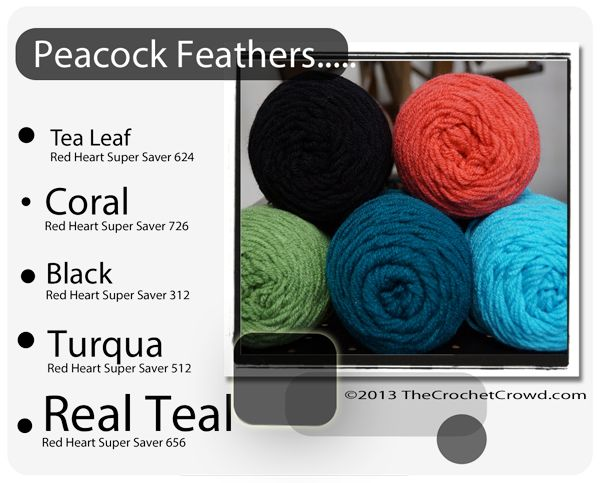 Red Heart Super Saver Color Mix: Peacock Feathers