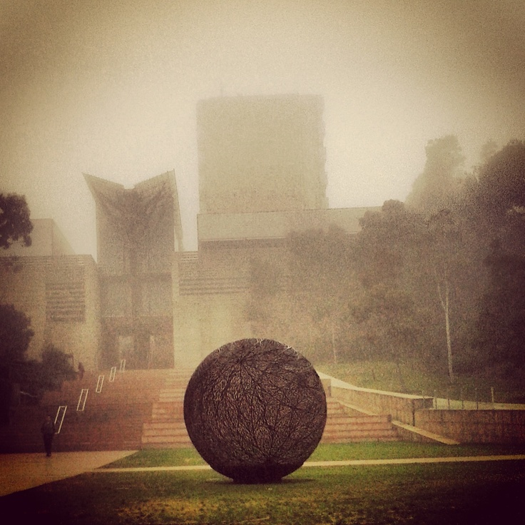 Mechanical Engineering Lawn on a misty #morning - UNSW