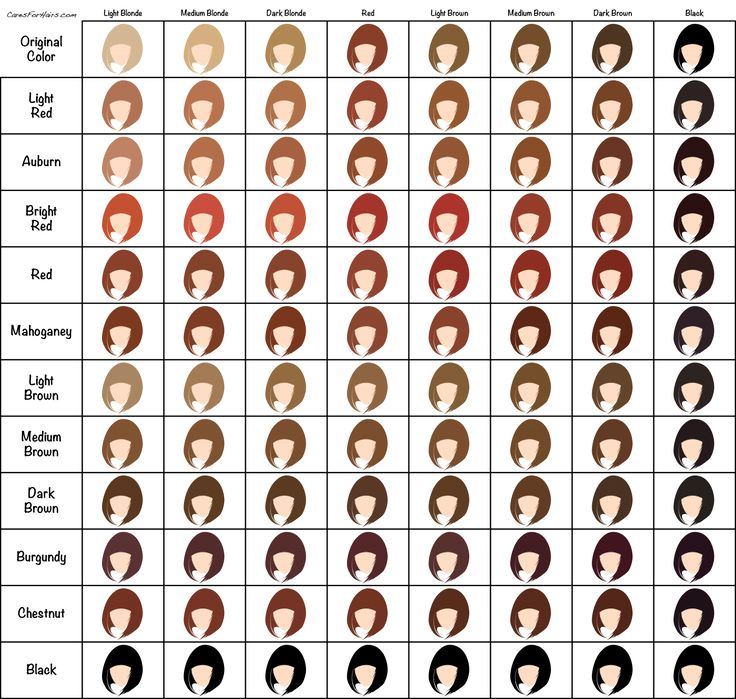 Best  Hair Dye Color Chart Ideas On   Temporary Red