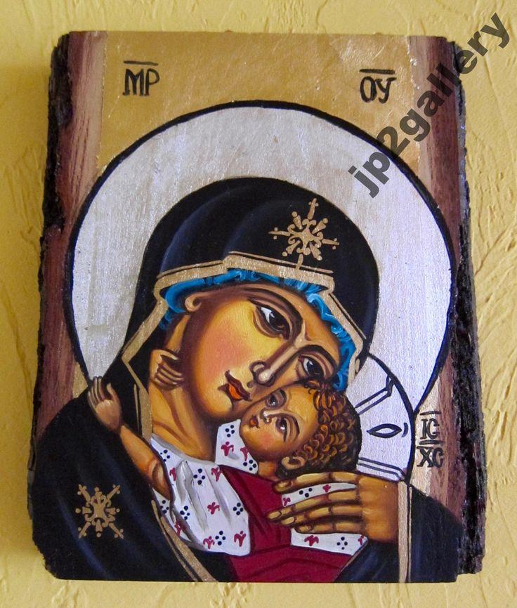 Ikona Matka Boża Czuła Umilenie ręcznie pisana