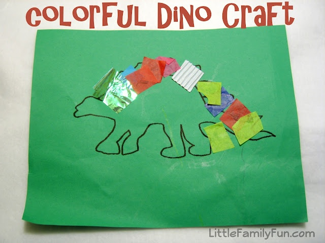 Fun dinosaur craft.
