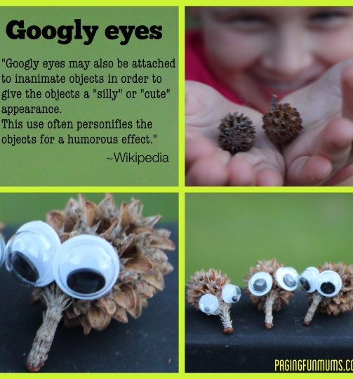 Google Eye Fun Kids Crafts- Sie nimmt diese immer wieder in die Hand …..   – Fun things with nature stuff