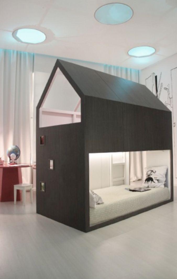 Awesome loft bed using IKEA KURA — Ikea hack. A #CanDoBaby! fave.