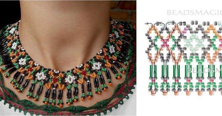 Patrones para hacer tus collares con abalorios, ¡espectaculares!
