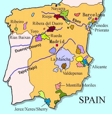 Wine Maps- Spain