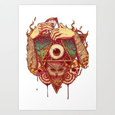 Owluminati Art Print by Rifal Jaelani - $13.52